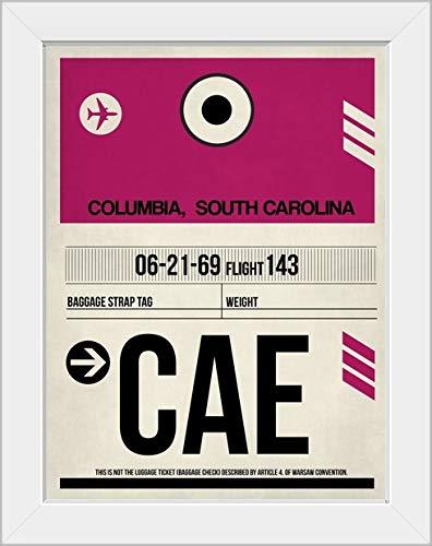 CANVAS ON DEMAND CAE Columbia Luggage Tag I White Framed Art Print, 15'x19'x1'