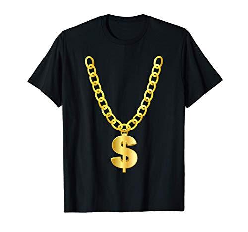 Cadena de dólar del oro collar de gangsters sesión Camiseta