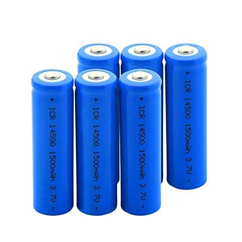 TTCPUYSA Batería De ión De Litio De 3.7v Icr 14500 1500mah, Puede para MicróFono Modelo aéReo 6pieces