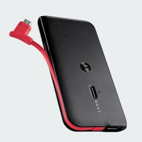 Motorola New Schlank 2000mAh Portable Battery Pack - Mit zusätzlichem USB Ladeleistung Mikro-USB- Kabel +
