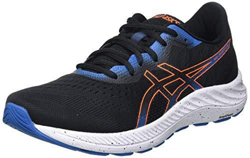 Asics Gel-Excite 8, Road Running Shoe Hombre, Black/Marigold Orange, 42.5 EU