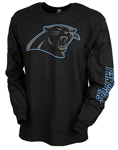Majestic Longsleeve - NFL Carolina Panthers noir
