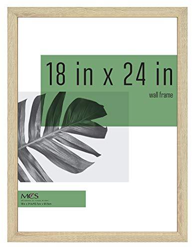 MCS Industries 63740 18x24 Inch Studio Gallery, Natural Woodgrain Frames, 18x24