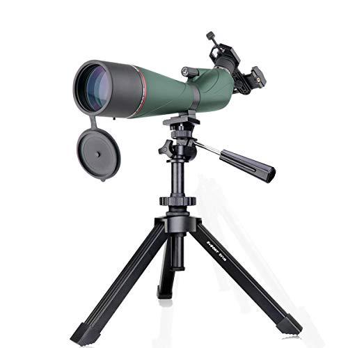 Svbony SV408 Telescopio Terrestre, 20-60x80 Telescopio con Trípode, HD FMC Óptica Porro Prisma Catalejos Impermeable con Adaptador de Teléfono para Tiro al Blanco, Tiro con Arco, Luna