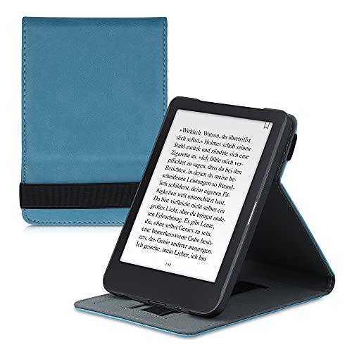 kwmobile Schutzhülle kompatibel mit Tolino Shine 3 - Hülle e-Reader mit Schlaufe Ständer - - Petrol