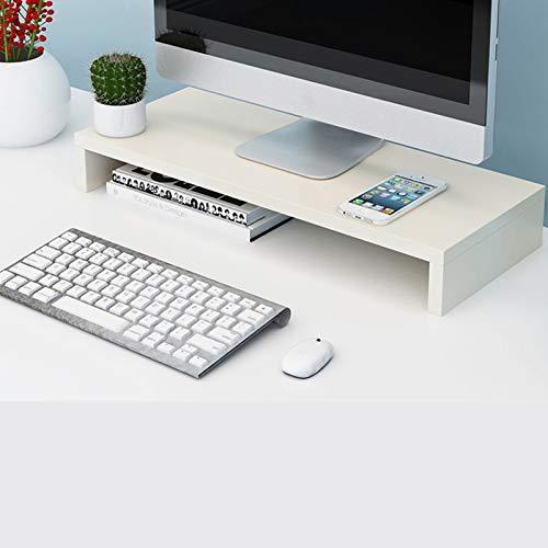 Wooden Monitor Stand,Desktop Computer Laptop Screen Riser,Ergonomic Desk Organizer Stand,for Laptop Computer-A 50x20x8cm(20x8x3inch)