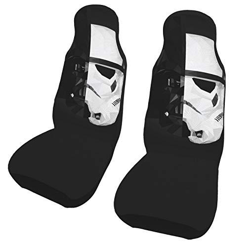 ESCFLAG Star Wars - Fundas de asiento de coche lavables y decorativas para la mayoría de coches, camiones, furgonetas, SUV, asientos delanteros