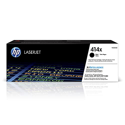 HP 414X   W2020X   Toner-Cartridge   Black   Works with HP Color LaserJet Pro M454 series, M479 series   High Yield