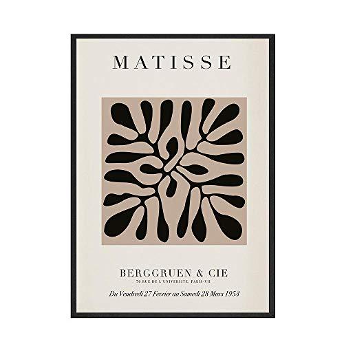 HNZKly Art Abstrakte Kurve Geometrie Poster Matisse Leinwand Gemälde Bunte Stil Poster Kunstdrucke Matisse Wand Bilder Wohnzimmer Home Hotel Dekor 40x60cm / Unframed-4