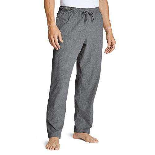 Eddie Bauer Men's Legend Wash Jersey Sleep Pants, Med HTR Gray Tall L