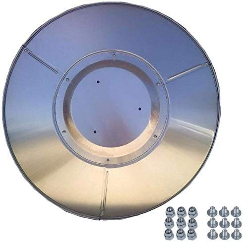 KIWS Propane Heat Reflector Shield, Patio Heaters Replacement Top Part for Outdoor Heaters Dome (3-Hole Mount)