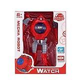 Flytise Niños Robot Watch Deformation Robot Toys Reloj Digital para niños Niñas Regalo