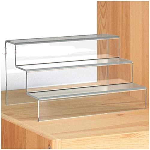 GFPR Display Ständer Acryl Transparent 3-Stufen-Regal Solid für Brieftaschen, Schuhe Produkt Lagerung 300 * 195 * 195MM