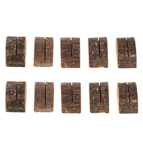 Baoblaze 10 Stück Holz Holzsteg Tischkartenhalter Platzkartenhalter Kartenhalter Platzkarte