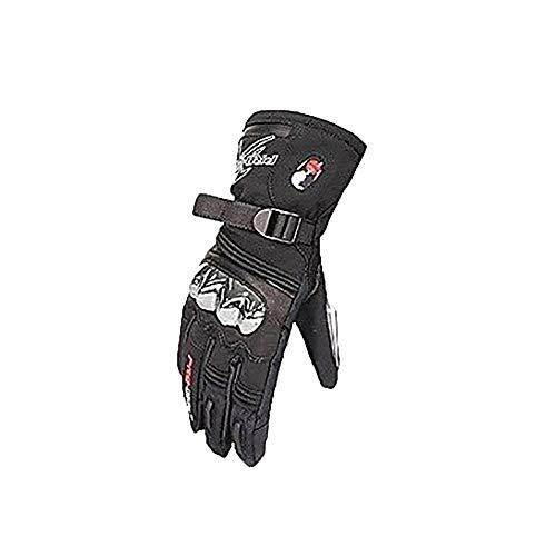 Beheizte Skihandschuhe Wiederaufladbar , 2200Mah Batterieheizung, Temperaturgesteuerter Touchscreen Mit Drei Geschwindigkeiten, Intelligente Heizung, Warme Handschuhe, 3,5-6 Stunden Warm Halten,Black-XXL