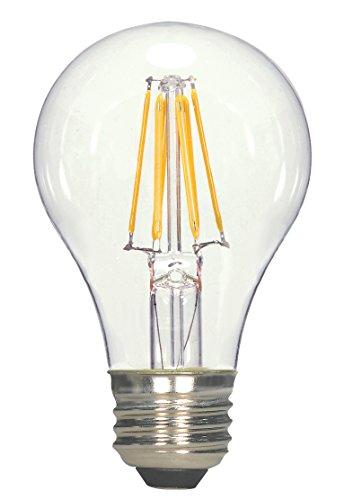 Bombilla LED transparente A60, bombilla LED Edison, bombillas LED tipo globo, bombillas LED de filamento, 4 W, E27, 4.0W 240.0V