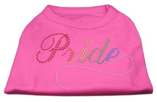 Mirage Rainbow Pride strass huisdier shirt, XXX-Large, Helder Roze