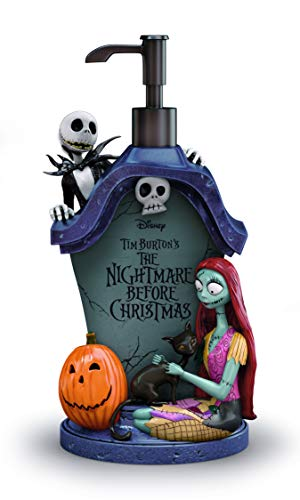 The Nightmare Before Christmas Lotion Soap Dispenser Exclusively from The Bradford Exchange | Disney Jack and Sally Officially Authorized Bath Ensemble Collection 'Simply Meant To Be' Limited Edition
