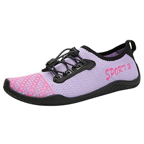 Amazing Deal Women's Water Shoes Aqua Socks, Purple Flats Barefoot Quick Dry Slip-on Pool Swim Beach...