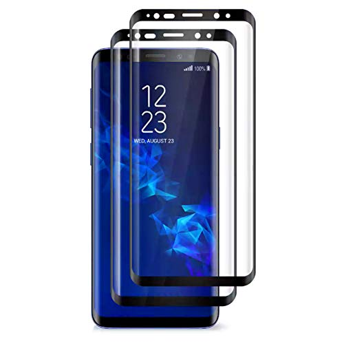 Tentoki Vetro Temperato per Samsung Galaxy S9+ Plus, [2 Pezzi] Copertura Completa Pellicola Protettiva Protezione Schermo per Samsung Galaxy S9+ Plus, 9H Durezza, Alta Trasparente, Nessuna Bolla