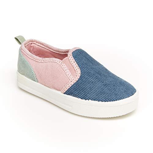 OshKosh BGosh Girls Sneaker, Navy/Multi, 11 Toddler
