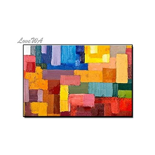 ZNYB Decoracion Pared Cuadro Pintura al óleo Abstracta Pintada a Mano sobre Lienzo Pinturas al óleo Hechas a Mano Imagen Obra de Arte