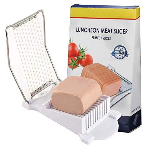 Spam Slicer, Multipurpose Slicer Egg Slicer with Stainless Steel Wire, Cuts 11 Slices (Stainless Steel)
