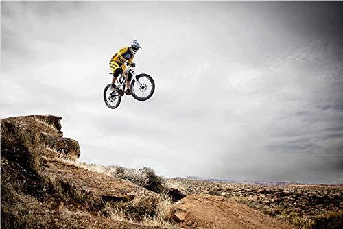 HXCHR Ciclismo de montaña Deporte Salto Salto Salto Desierto/Pintura al óleo por números/Kit de Pintura Digital DIY, Lienzo Lienzo Mural art-40x50cm
