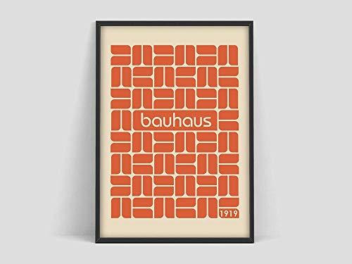 Bauhaus-Plakate, 100 Jahre Bauhaus, Bauhaus-Ausstellungsdrucke, Herbert Bayer-Plakate, Bauhaus-Drucke, Walter Turi-Kunstplakate, Jugendstilhaus rahmenlose Dekoration A13 70x100cm
