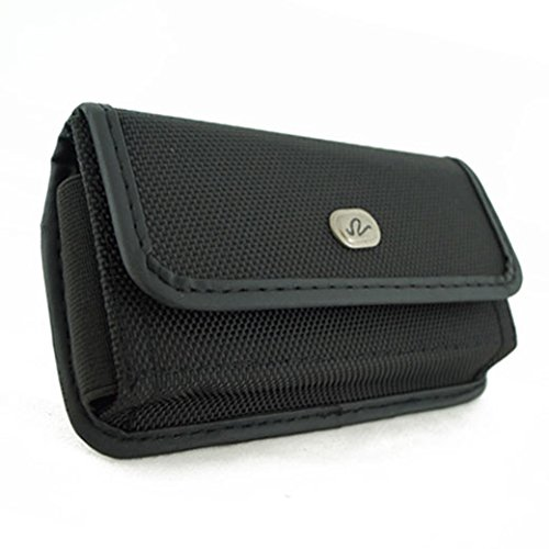 Horizontal Sideways Heavy Duty Rugged Canvas Belt Clip Case Cover Pouch Holster for Apple iPhone 4 & iPhone 4S * All Carriers, Including Verizon, Sprint, AT&T ATT, T-Mobile, Virgin Mobile, etc