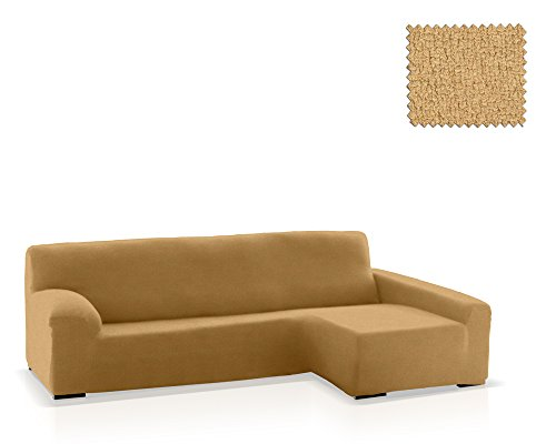 JM Textil Funda de sofá Chaise Longue Eneasis, Brazo Derecho, tamaño estándar (220-280 Cm.), Color 01