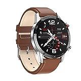 XYZK L13 Business Smart Watch Hombres Bluetooth Call Cronómetro IP68 Impermeable ECG Presión arterial Frecuencia Cardíaca Monitor de Sueño Señoras Fitness Tracker Deportes Smartwatch PK L16 L19(D)
