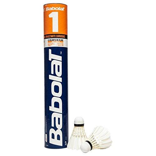 Babolat 1 Federbälle (12 pro Tube), Weiß, 77-Langsam