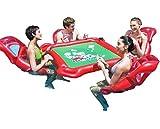 WQSFD Juguetes Gigantes de Natación Juguetes Inflables de Agua, Mesas de Ajedrez de Mesa Mahjong, Anillos de Natación con 4 Asientos flotantes para Adultos, Tour Holiday Entertainment Toys
