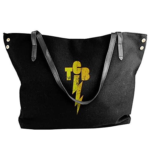 Elvis Presley Tcb Damen Canvas Schultertasche Laptop Tasche Handtasche