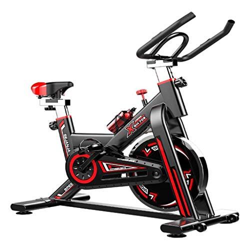 Inicio Spinning Bike Indoor Bicicleta estacionaria para deportes Aerobic Entrenamiento Fitness Bike Bike Speed Bike con correa tranquila Drive Bicycle Cardio Fitness Equipment ( Color : Black )