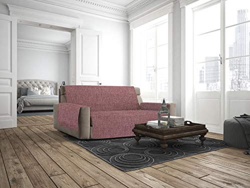 Italian Bed Linen Comfort Copridivano Antiscivolo, Bordeaux, 2 Posti Maxy