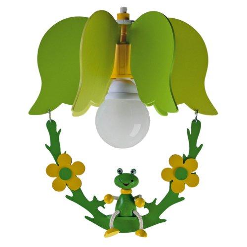 elobra - Lámpara de techo colgante infantil (1 punto de luz), diseño de rana