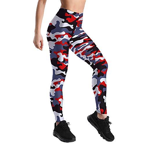 Fitness Deportivas Pantalones Niña Mujer, Pantalones de yoga de la novedad de las mujeres Pantalones de yoga Longitud del tobillo Levantamiento flaco Leggings transpirable Deportes Correr Pilates Entr