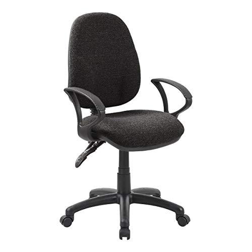 Office Furniture Online 2-Hebel Bürostuhl mit festen Armlehnen   Comfort Ergo   Dunkelgrau