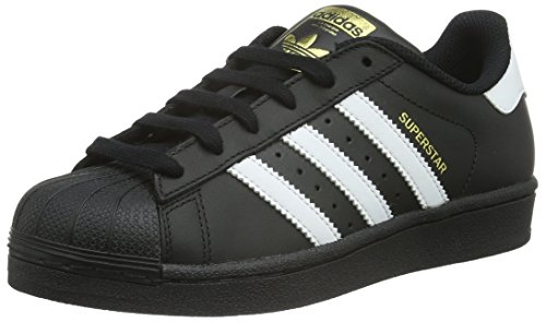 adidas Unisex-Kinder Superstar Foundation Low-Top Sneaker - Schwarz (Core Black/Ftwr White/Core Black) , 37 1/3 EU