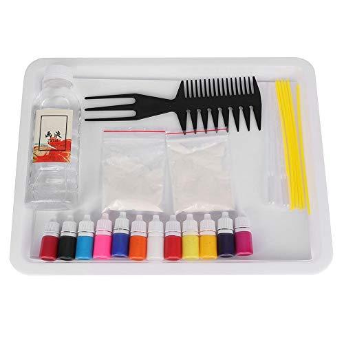 Wassermarmorierungs-Malzeug, Wassermarmorierungs-Wasserpigment für Papiermarmorierung Ebru Art Tool mit A5-Fach (zufällige Farbe)(A5 12 Colors Kit)