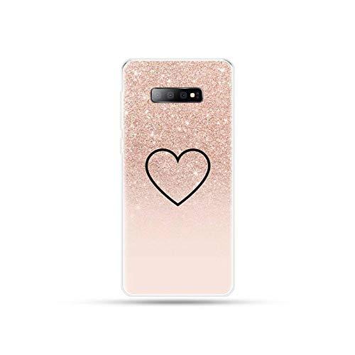 Schutzhülle für Samsung Galaxy S5 S6 S7 S8 S9 S10 S10e S20 Edge Plus Lite Coque Shell Soft Shell A7-For Galaxy S9 Plus, Rosa / Gold
