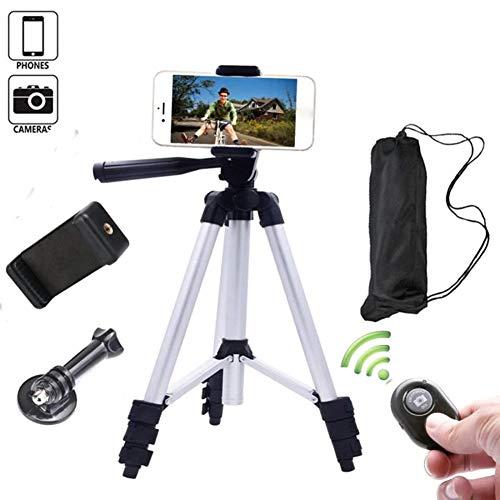 Lightweight Tripod, 3-weg kop-fotostatief, reiscamera statief voor SLR/DSLR past met Canon/Nikon/Sony/etc.