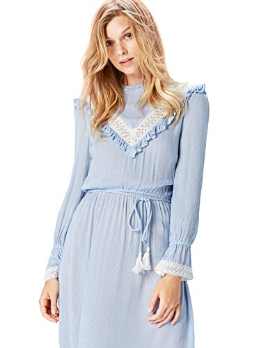 Amazon-Marke: find. Damen Kleid, Blau (Blue Striped), 34, Label: XS
