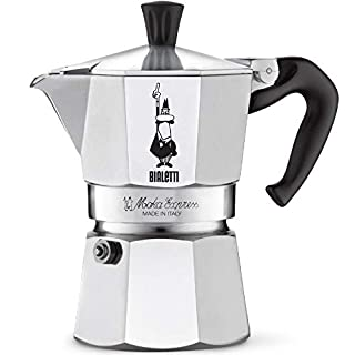 Bialetti Moka Express StoveTop Coffee maker, 3-Cup, Aluminum Silver (B0000CF3Q6) | Amazon price tracker / tracking, Amazon price history charts, Amazon price watches, Amazon price drop alerts