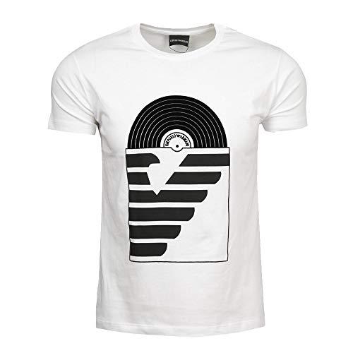 Emporio Armani Camiseta Estampada (XXL, Vinyl Blanco)