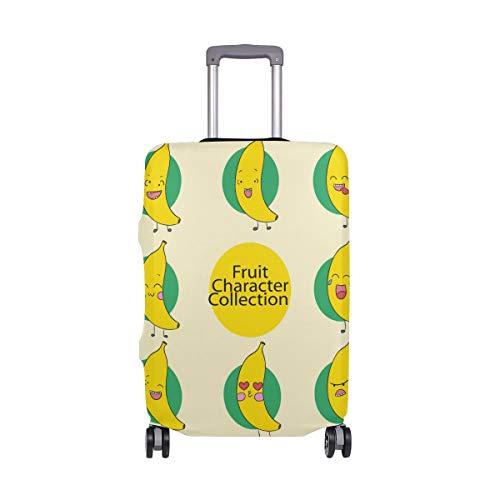 ALINLO - Funda protectora para equipaje de 18 a 32 pulgadas con diseño de emojis sonriente