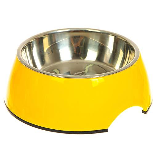 Double-layer-design Dog Bowl Single Bowl roestvrij staal hondenvoerkom bestand tegen hoge en lage temperatuur kat kom pet bowl X-Large