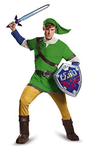 Disguise Men's Link Deluxe Adult, Green, Medium